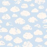 Grange clouds pattern Stock Illustration