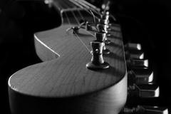 Electric Guitar Neck Close-up A - stock photo