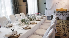 Tables and chairs Rustic Wedding Stock Footage