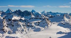 Alps mountain winter landscape Stock Photos