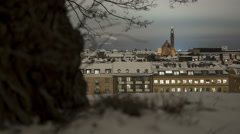 Engelbrekt Church from Observatorielunden Stockholm time-lapse Stock Footage