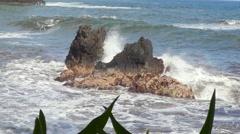 4K Ocean Waves And Rocks 07 Stock Footage