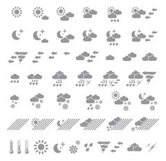 Weather icons set. Vector illustration Stock Illustration