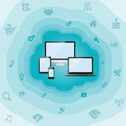 Abstract cloud computing Piirros