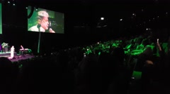 Crowed in an Iranian Persian concert with Dariush as the singer - stock footage