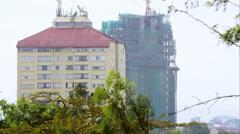 Nairobi highrise under Construction Stock Footage
