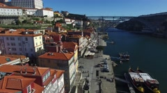 Historic center city of Porto, Portugal Stock Footage