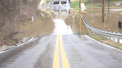 Flooded roadway Stock Footage