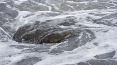 View of natural whirlpool in water Stock Footage
