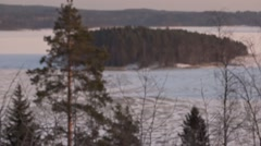 Lagoga lake, winter - stock footage