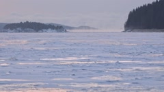Ladoga lake, winter Stock Footage