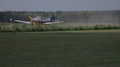 Small Airplane Aircraft Aviation landing Stock Footage