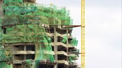 Nairobi highrise construction sit Stock Footage