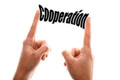 Smaller cooperation concept Stock Photos