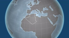 Algeria and Globe. Bumps - stock footage