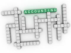3d image Accounting word cloud concept - stock illustration