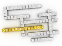 3d image Determination word cloud concept - stock illustration