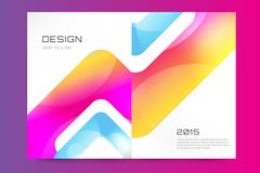 Abstract brochure or flyer design template - stock illustration
