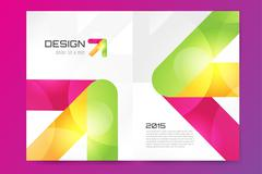 Abstract brochure or flyer design template Stock Illustration