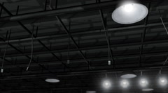 Hanging Stage Ceiling Lights - stock footage