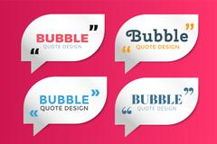 Quote blank template bubble empty design - stock illustration