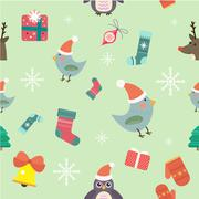 Christmas seamless pattern background Stock Illustration