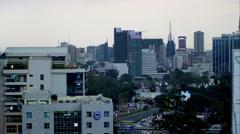 Nairobi Evening Traffic Stock Footage