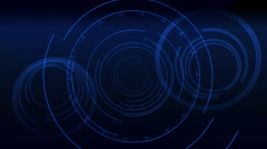 Blue Circle Elements - stock footage