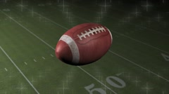 American Football Touchdown - stock footage