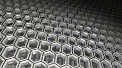 Hexagon Pattern Background - stock footage