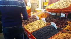 Iran: Crowd of people shopping goods in the old local market Bazaar of Tehran - stock footage
