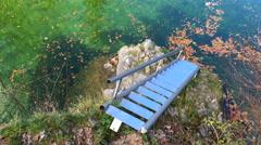 Clear mountain river Sava Bohinjka, Bohinj, Slovenia Stock Footage