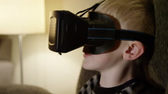 Young Child Using Oculus Rift - stock footage