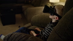 Young Child Using Virtual Reality - Oculus Rift Stock Footage