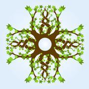 Celtic maple design Stock Illustration
