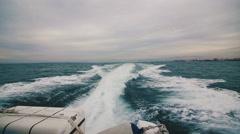 Fast Yacht Boat Wake Foam - stock footage