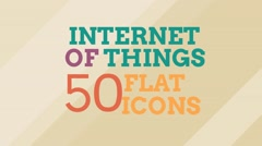 Internet Of Things and Smart Home Icon Set Stock After Effects