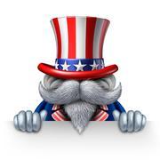 Uncle Sam Horizontal Sign - stock illustration