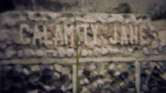 1953: Calamity Jane western legend memorial gravesite tomb.  DEADWOOD, SOUTH - stock footage