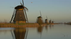 Dutch Windmills at Kinderdijk Netherlands - 4K Ultra HD Stock Footage