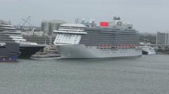 Princess cruise lines ship Stock Footage