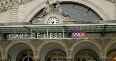 Gare de Paris, Paris Est facade Stock Footage