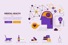 Mental health concept Stock Illustration