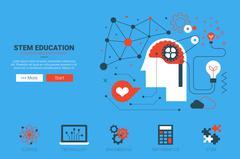 STEM website concept - stock illustration