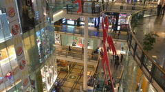 Palladium is a shopping mall located in the centre of Prague Stock Footage