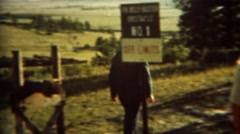 1966: Cadet shows family off limits training obstacle course.  U.S. AIR FORCE - stock footage