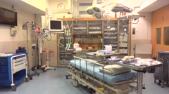 empty trauma room in a hospital - stock footage