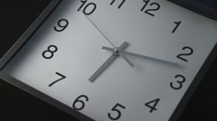 Time-lapse footage of wall clock - stock footage