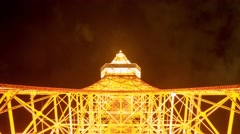 Time lapse footage of Tokyo tower at night - stock footage