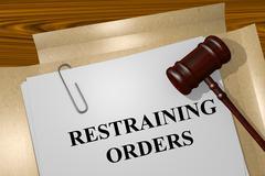 Restraining Orders concept - stock illustration